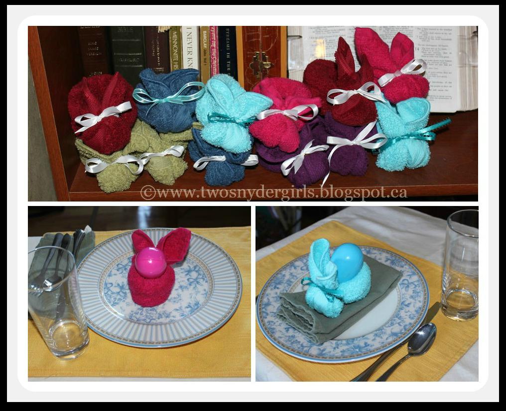 Face cloth Easter Bunnies