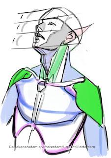 anatomie schouders, spieren tekenen, gesture tekenen, houdingen tekenen, mensen tekenen,