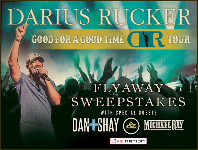 Live Nation wants you to enter once for the chance to win a flyaway trip to see Darius Rucker's Good For A Good Time Tour in Virginia Beach, complete with a meet & greet!