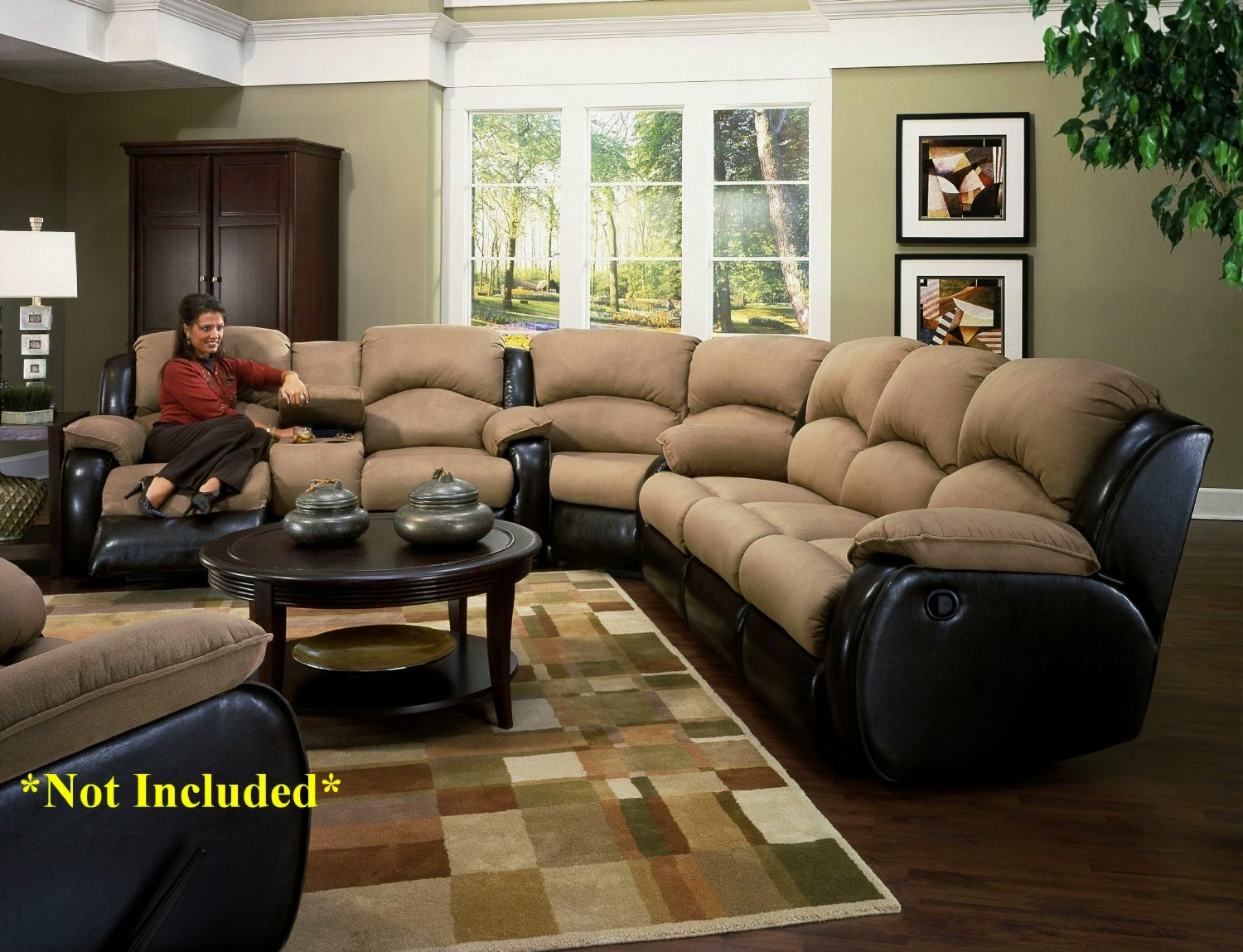 Recline Designs 706 31 Jupiter Dual Reclining Sectional Sofa