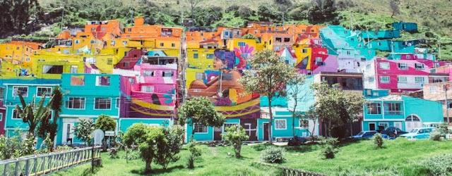 El mural en Bogotá que ocupa todo un barrio ya fue terminado