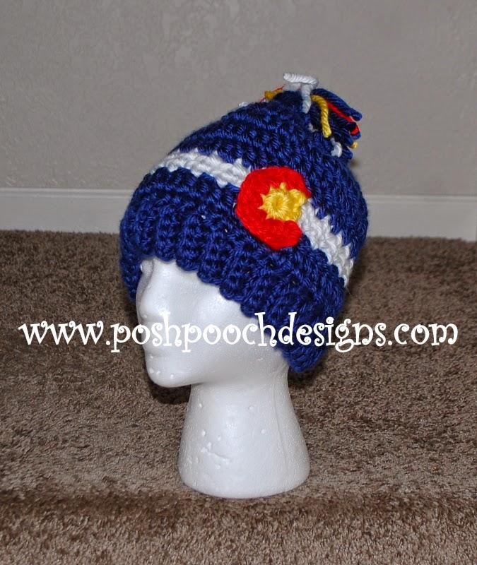 Posh Pooch Designs Dog Clothes Chunky Colorado Beanie Crochet Pattern