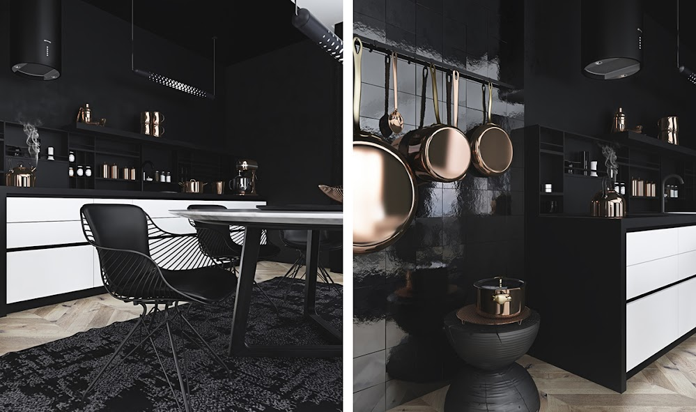 black-kitchen-decor