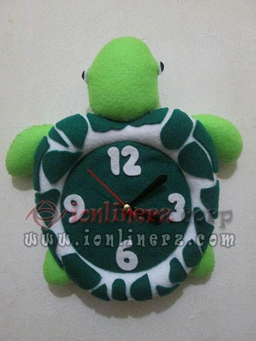 Jam Dinding Flanel Karakter Kartun Boneka Kura - Kura / Turtle