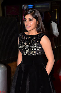 Niveda Thomas Black Sleeveless Cute Dress at 64th Jio Filmfare Awards South 2017 ~ Exclusive 007