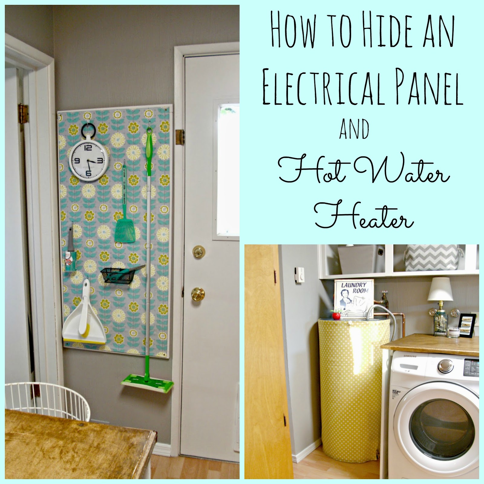 Laundry Room Redo - Hiding the Electrical Panel & Hot Water Heater ...