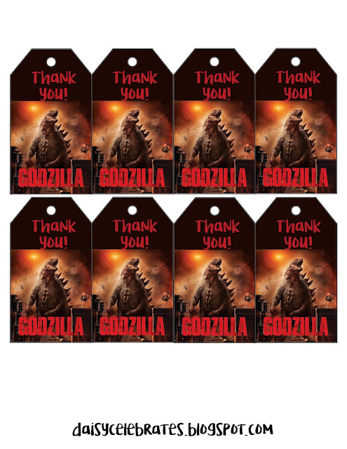 Godzila Party Free Printable Mini Kit.