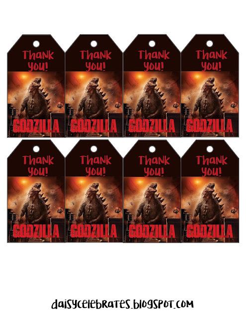 Cumpleaños de Godzila: Mini Kit para Imprimir Gratis.