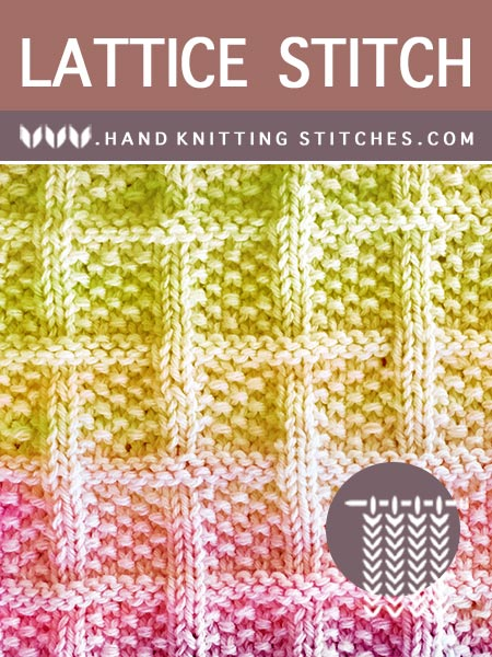 Hand Knitting - Lattice With Seed Stitch Knit Purl Pattern #knitpurl
