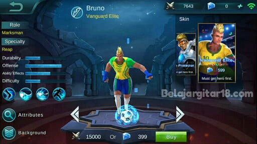 Hero bruno Mobile legends