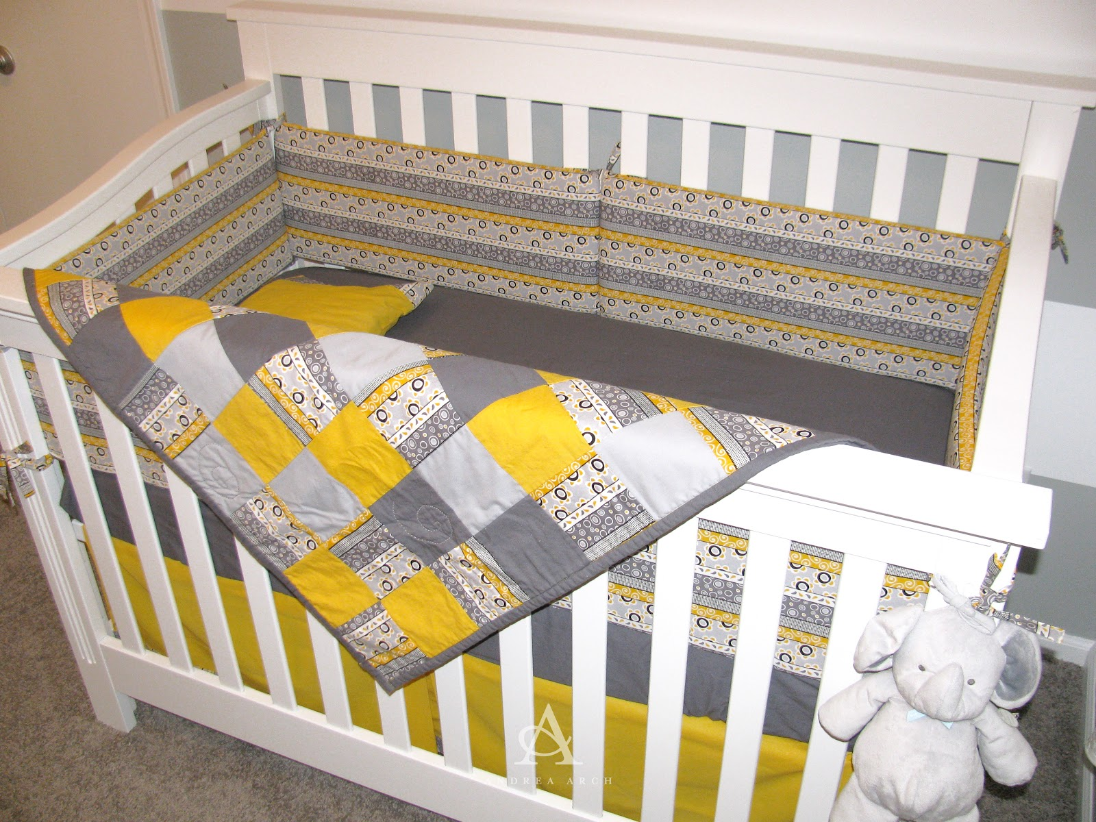 Andrea Arch Lil Arch S Yellow Grey Gender Neutral Nursery