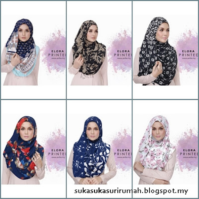 Review instant shawl Elora Printed dari Avilia.My