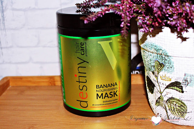 V.Laboratories, odżywcza maska bananowa - Destiny banana nourishing mask