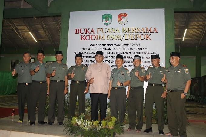 Wawali Buka Puasa Bersama Dengan Prajurit Kodim 0508/Depok