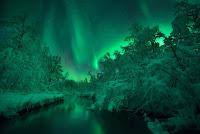 Aurora over Lomaas River