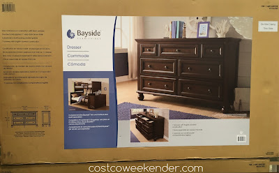 Costco 640105 - Bayside Furnishings Dresser - Solid rubberwood construction with birch veneers