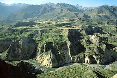 Vista panorámica del Cañón del Colca