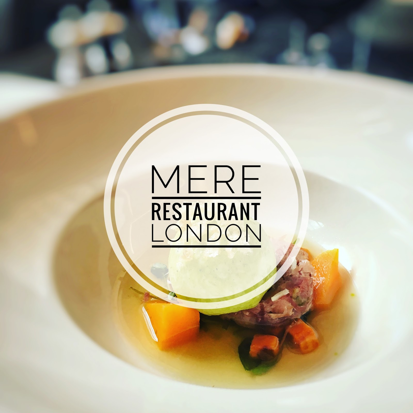 A dish from Mere restaurant London