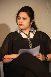 Tamil Actress Meena Latest Stills in Black Dress at TSR TV9 Awards Press Meet  0084.JPG