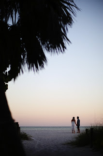 bride and groom on the beach on sanibel island before the wedding