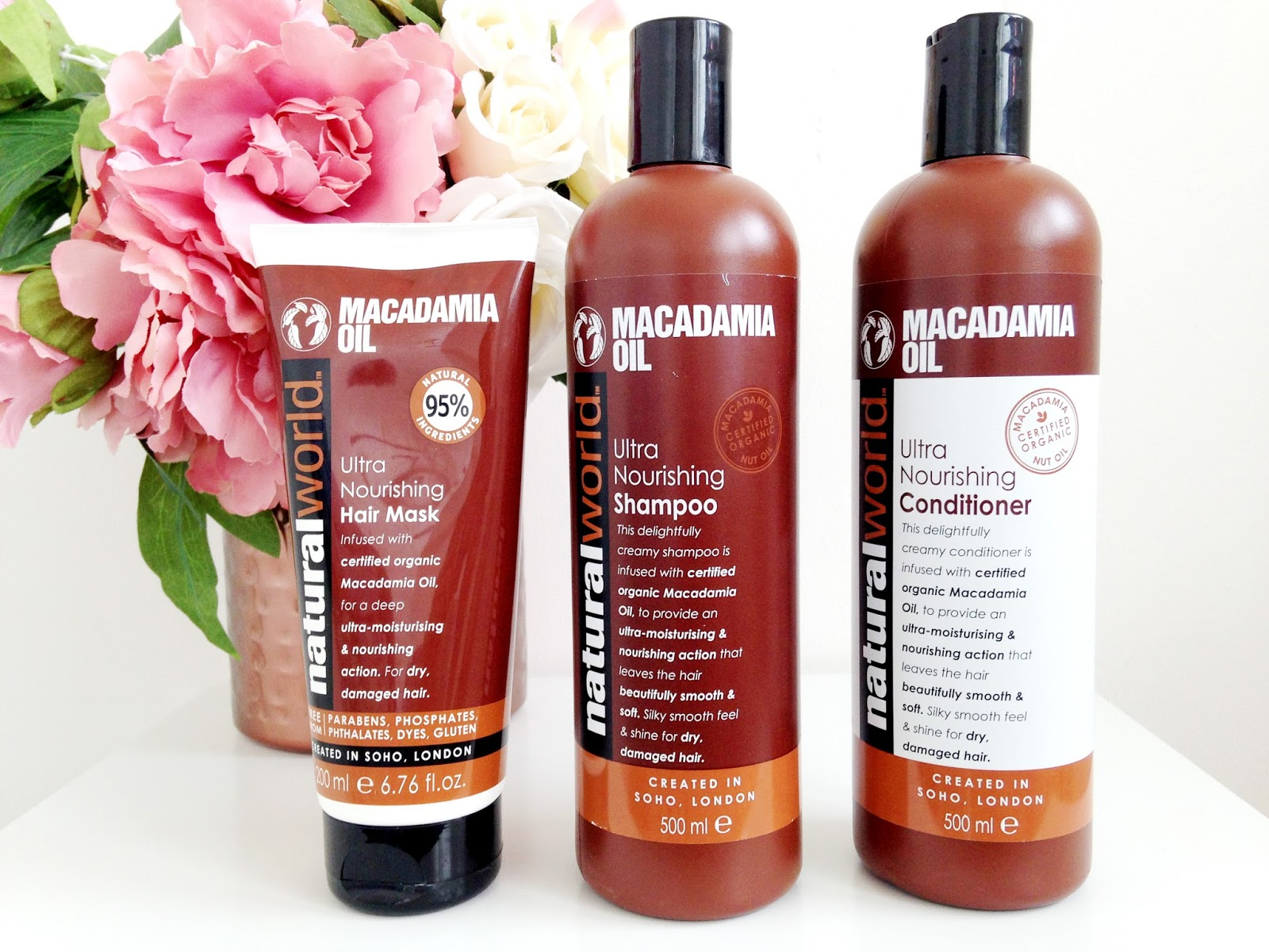 Natural World Macadamia Oil Hair Range