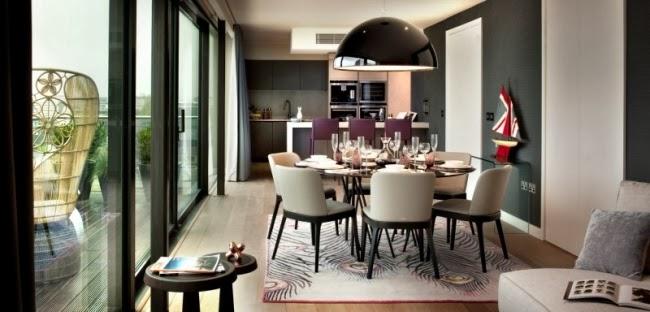 diseño comedor elegante moderno