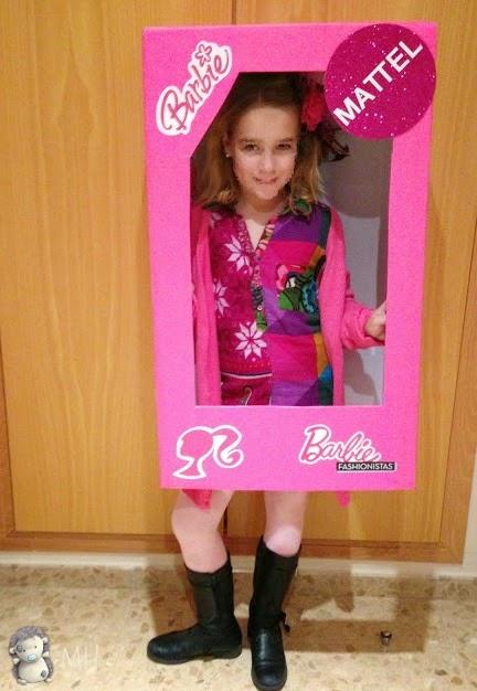 Disfraz de Barbie en su caja