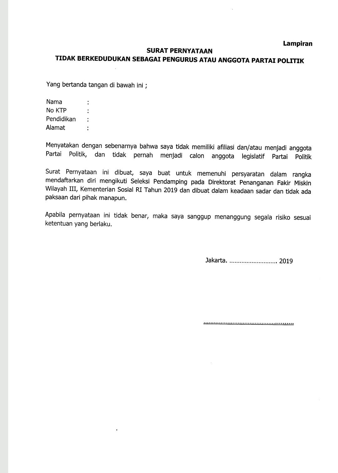 13+ Contoh Surat Lamaran Untuk Dinas Sosial