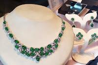 jade diamond jewelry set