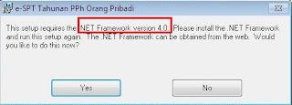 Install eSPT dan NET Framework