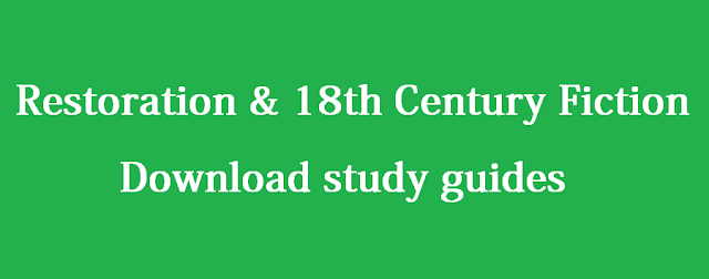 Restoration & 18th Century Fiction - Download study guides and Bangla translations