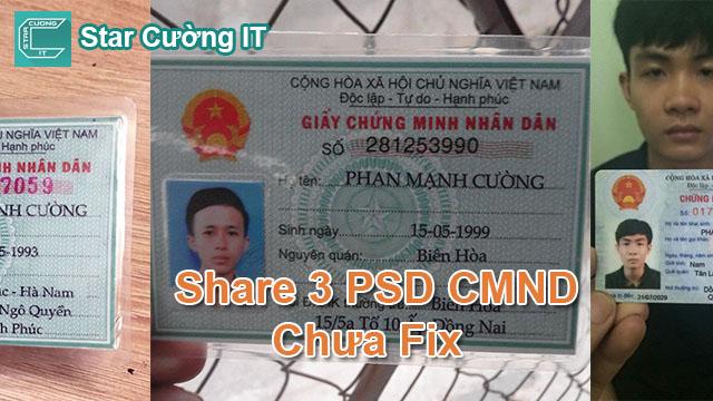 Share 3 PSD CMND Chuẩn Để Unlock