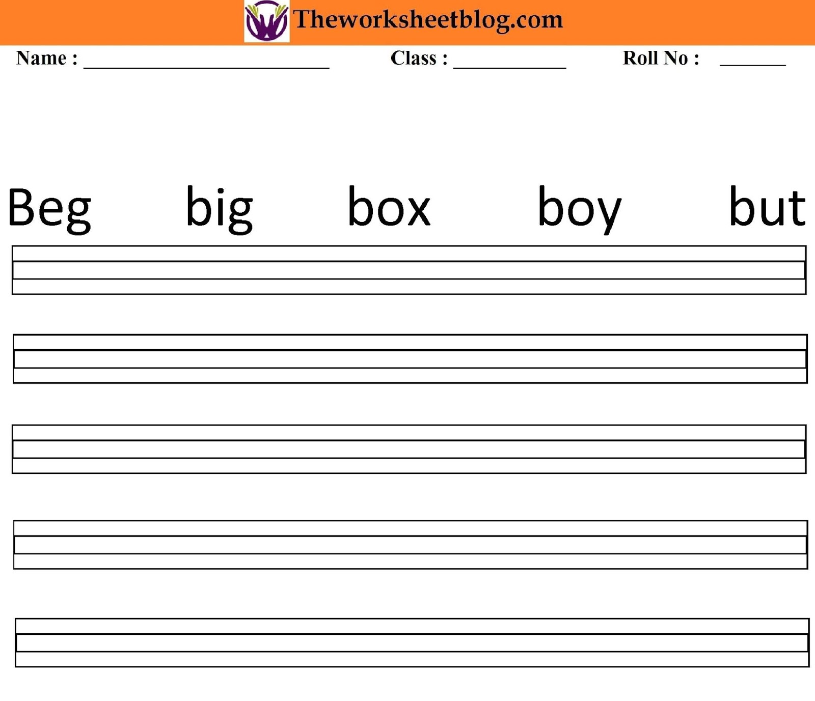 Three Letter Word In English Worksheet