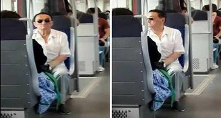 حسني مبارك يفاجأ المصريين داخل عربات المترو - ( صور )