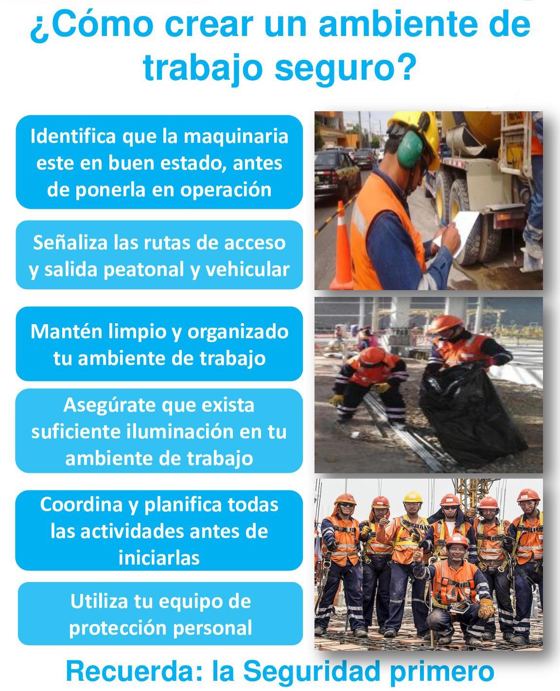 Cursos en seguridad salud ocupacional y medio ambiente for Ambiente de trabajo