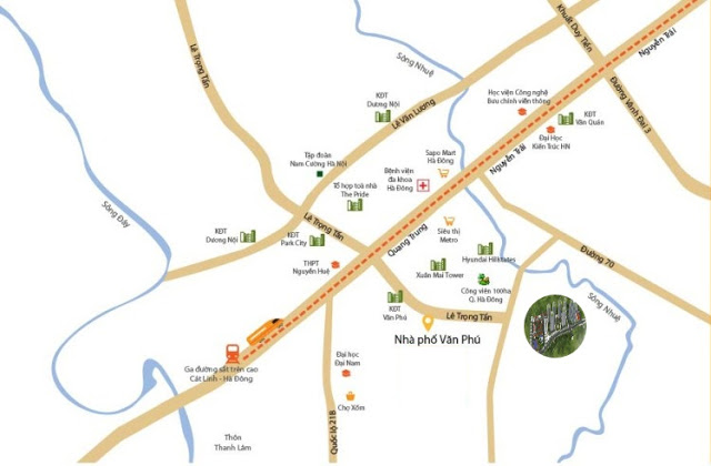 Vị trí đắc địa tại dự án chung cư Mipec Kiến Hưng Hà Đông