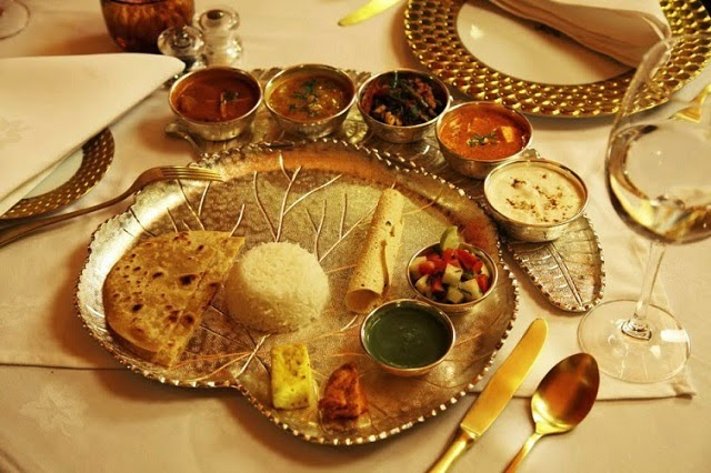 Gourmet food served on board the Maharajas' Express