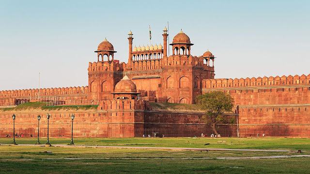 The Majestic Red Fort- UNESCO World  Heritage site in India