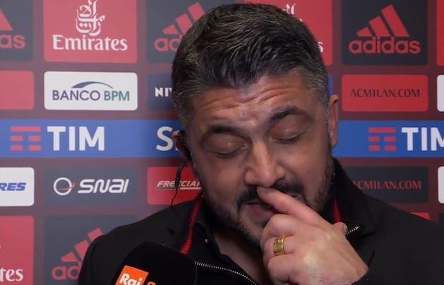 """Gattuso: """"Volevamo il gol a tutti i costi"""""""