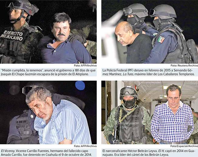 """""""CAEN y CAEN CAPOS,PERO VIOLENCIA NO CAE"""",VAN 91 de 122 OBJETIVOS"""