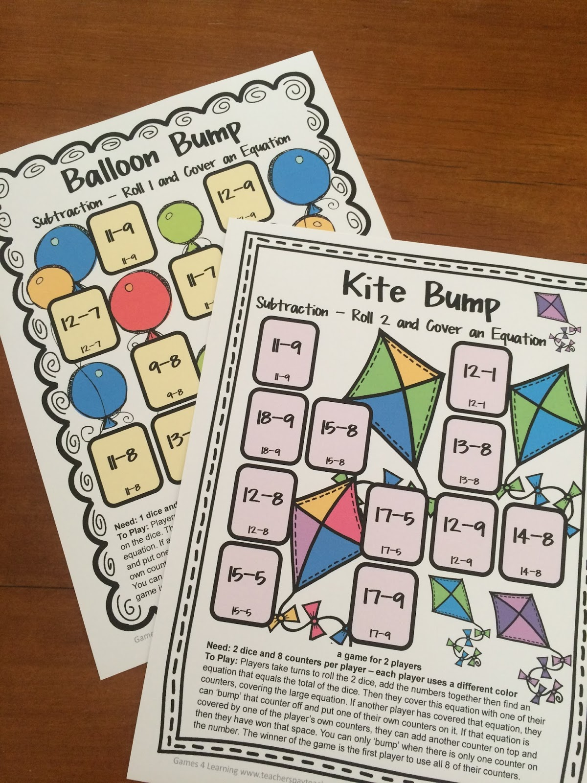 Subtraction Games 1st Grade Printable on Add And Subtract Within St Grade Math Chimp 1st