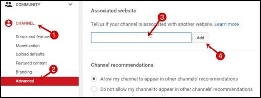 youtube channel setting for dofollow backlinks