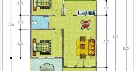 ukuran 6x9 denah rumah 6x9 2 kamar tidur - berbagai rumah