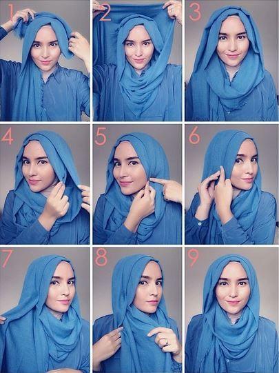 Tutorial Style Hijab Pashmina Loose Summer
