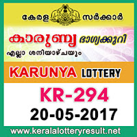 Karunya Lottery KR-294 Results 20-5-2017