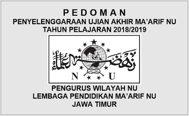 Download Pedoman Ujian Akhir Ma'arif NU 2018/2019