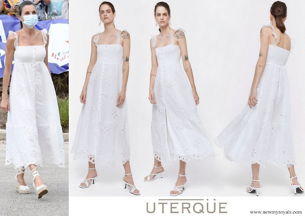 Queen Letizia wore Uterque organza dress with embroidery
