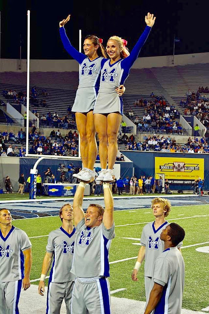 University of Memphis Coed Cheerleaders 1995. Pom-Pom Mom. marchmatron.com