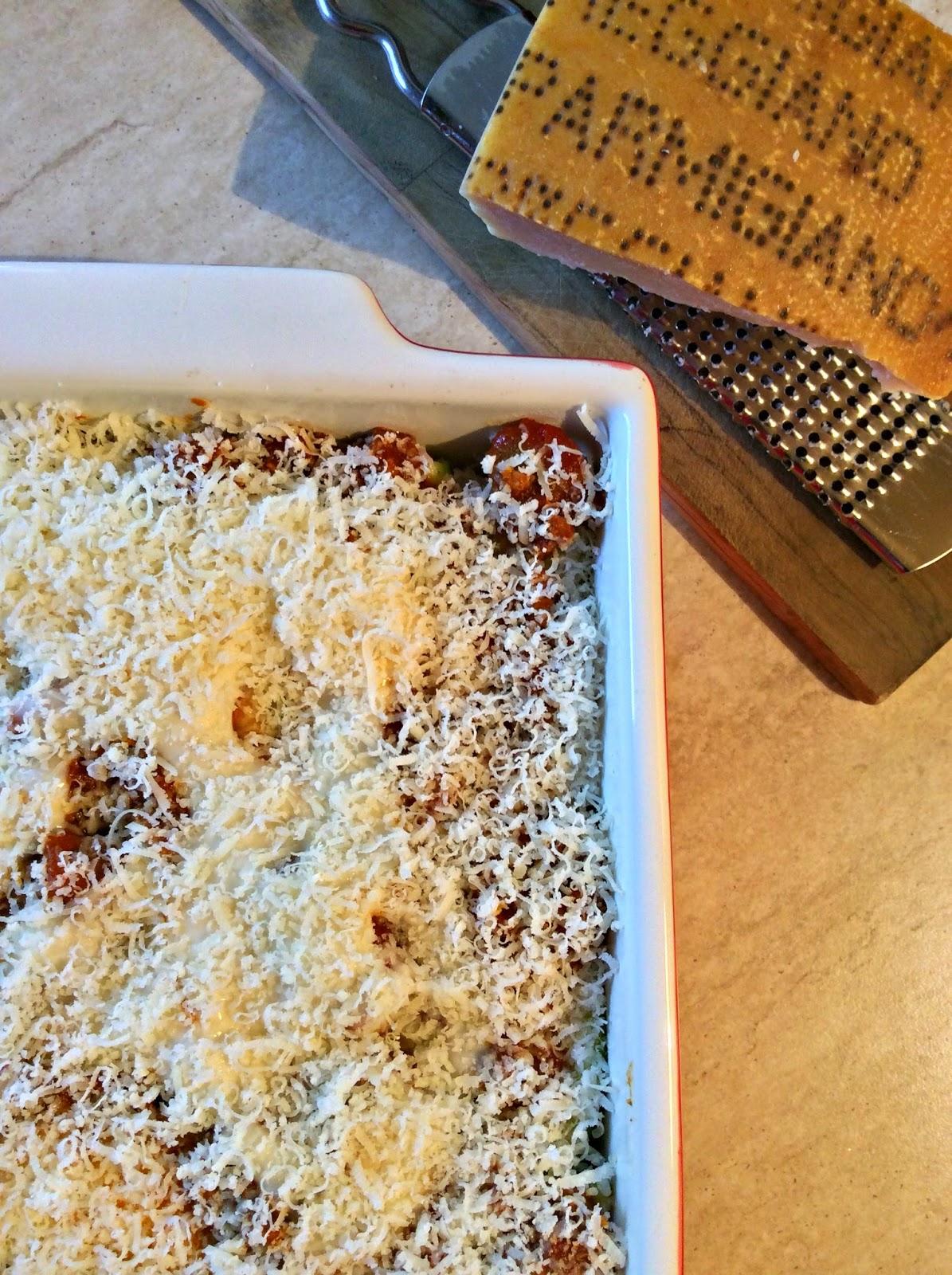 lasagne di zucchine e ragù alle spezie