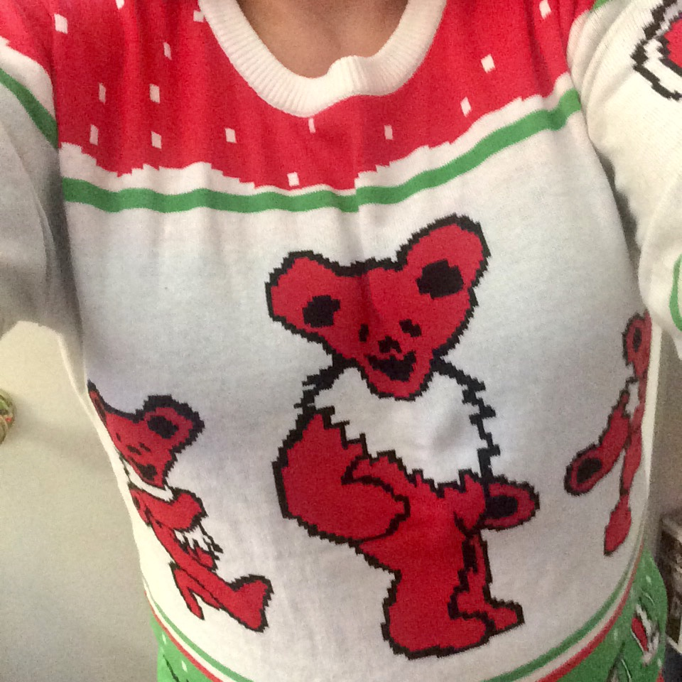 Heck Of A Bunch Grateful Dead Dancing Bears Ugly Christmas Sweater